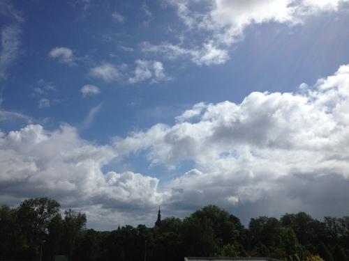 Ik zie de lucht steeds blauwer worden en stel een uitstapje voor.