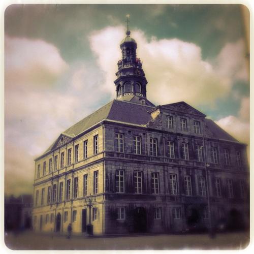 Het stadhuis ook steeds weer een dankbaar onderwerp.
