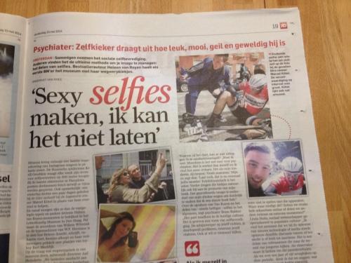 Ik ben niet van de selfies, nooit geweest ook. Alles met mate is nog steeds de beste weg.