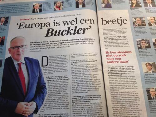 Kijk meneer Timmermans, als zelf politie dit soort uitspraken doen, hoe kunnen wij dan nog serieus naar Europa kijken?
