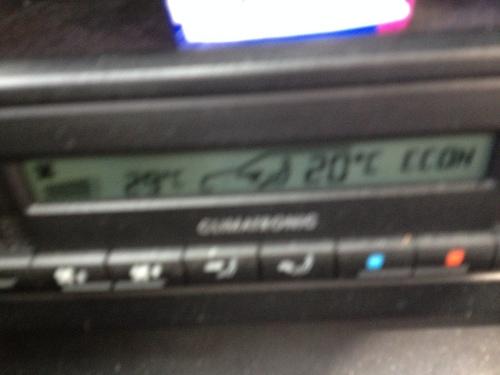 Beetje vaag, want ik kreeg bijna een appelflauwte in de auto ... 29 graden in mei?