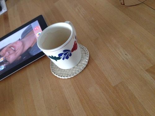 Na beweging is het goed koffie drinken.