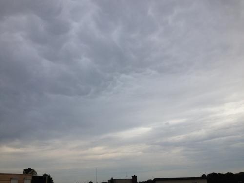 Woeste wolken.