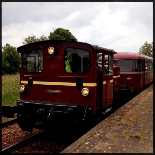 Oh wat schattig...een oude trein bij Schin op Geul