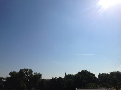 Hemelsbreed geen wolkje te zien