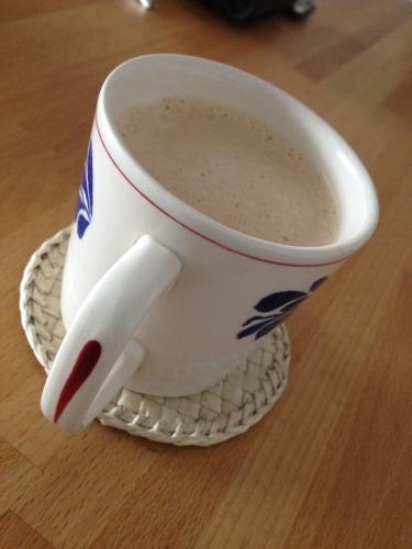 Koffie om bij te komen. Het ging niet van harte vandaag.