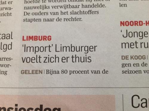 Wie durft nu nog te beweren dat wij Limburgers niet toegangelijk zijn?  huh?