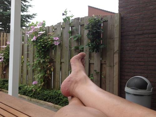 De rest van de middag met de voeten omhoog.
