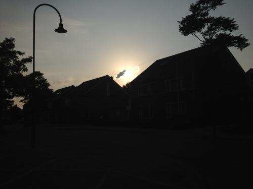 Er schuift een wolkje voor de zon.