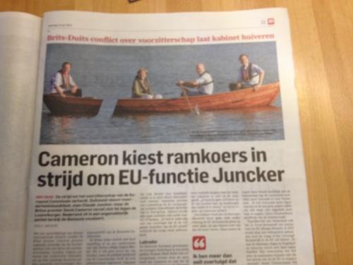 Kom op Cameron, stap uit die boot en blijf je eigen koers varen!