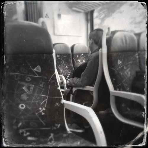 Zelfs in de trein is het beeld troosteloos