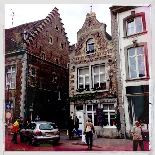 Lunchwandeling met Céline. Mooi Maastricht.