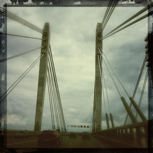 De brug van Ewijk, we komen in de buurt.