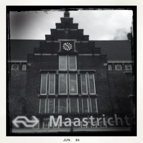 Weer terug bij het startpunt, station Maastricht.