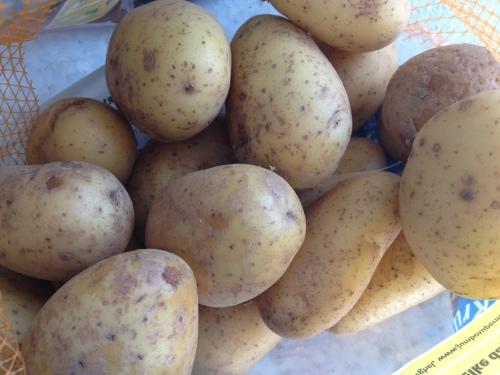 Schil ik aardappels.
