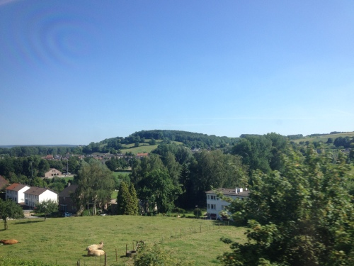 Op weg naar huis geniet ik weer van de zonnige heuvels.