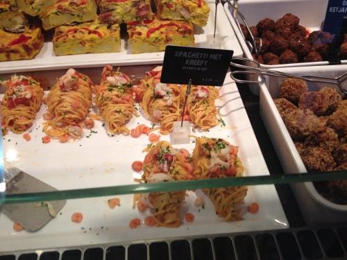 Spagetti en kreeft, zaaaalig!