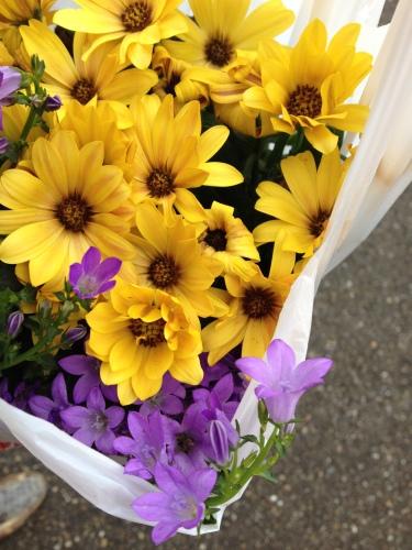 Ik koop bloemetjes.