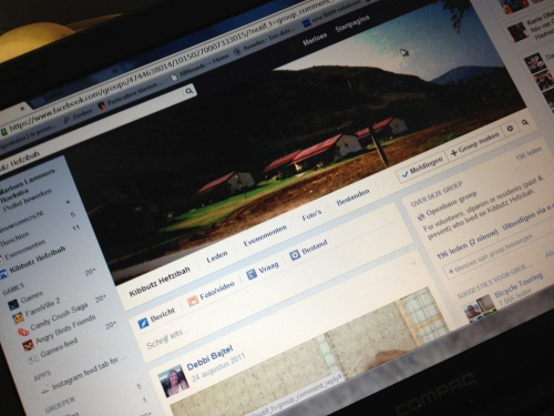 Ik bezoek een paar oude vrienden op facebook
