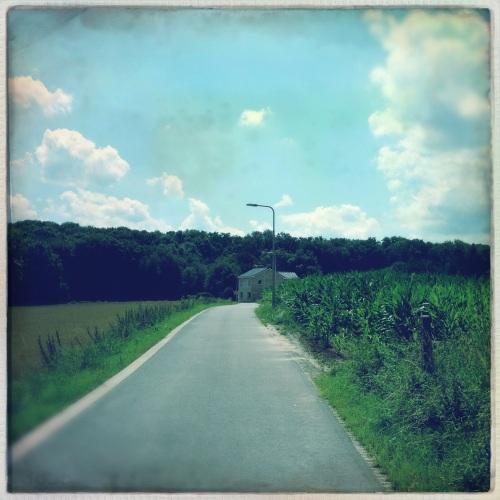 Aan het einde van de weg was vroeger een manege.
