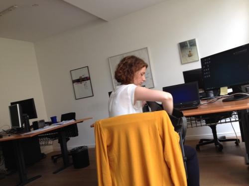 Kijk eens wie we daar hebben. Collega Céline is vandaag in Maastricht...
