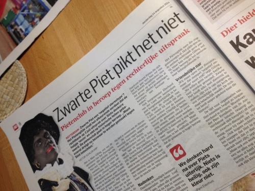 Zwartepietenpettenopstand in Nederland..we zullen ze met pepernoten om de oren gooien